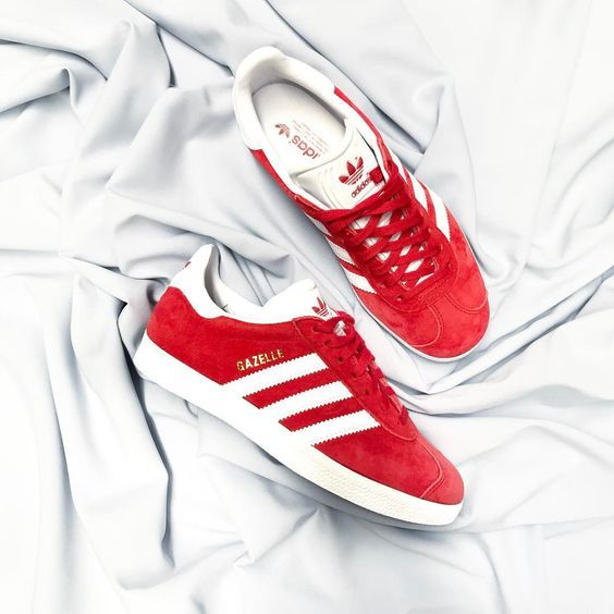 official photos e0cda 8b0ea ADIDAS Originals Gazelle in Power Red   Fitness   Athleisure Style in 2019    Adidas sandals, Adidas, Adidas sneakers