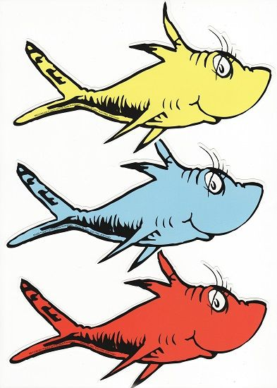 Dr seuss stickers scrapbooking dr seuss 1 fish 2 fish for Dr seuss one fish two fish