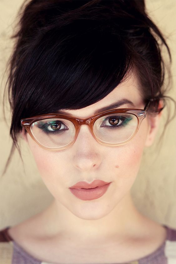 0d1060ffc Hair bangs, or fringes to some, can really enhance a hairstyle and soften  facial features. Wearing suitable glasses can ...