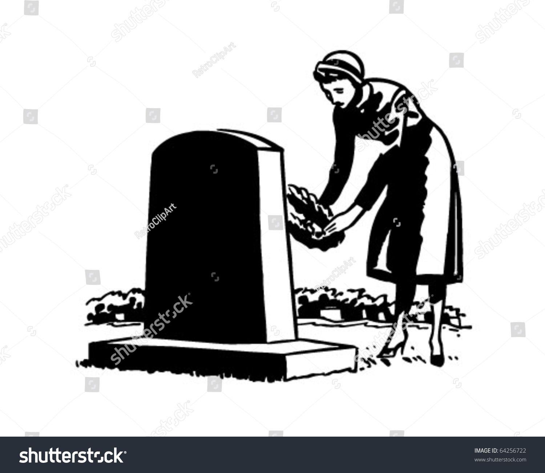 Woman Placing Flowers On Grave Site Retro Clipart Illustration Ad Sponsored Flowers Grave Woman Placing Illustration Drawings Illustration Design