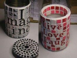 latas de baldosas de imitación
