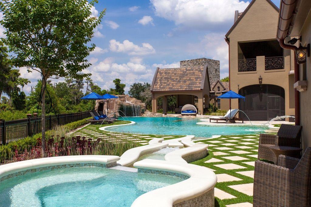 Windermere home backyard house windermere pool houses