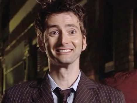 David Tennant as The Doctor. He is too adorable for his own good.