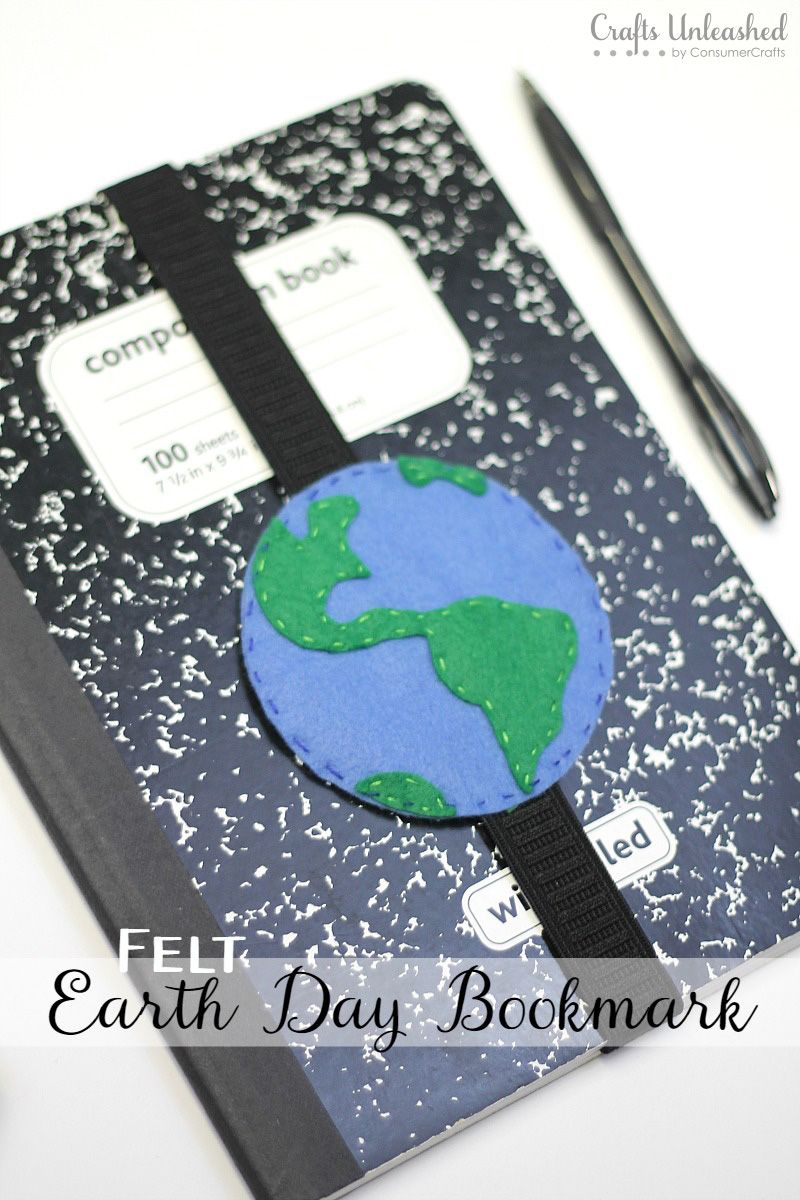 diy bookmark tutorial for earth day