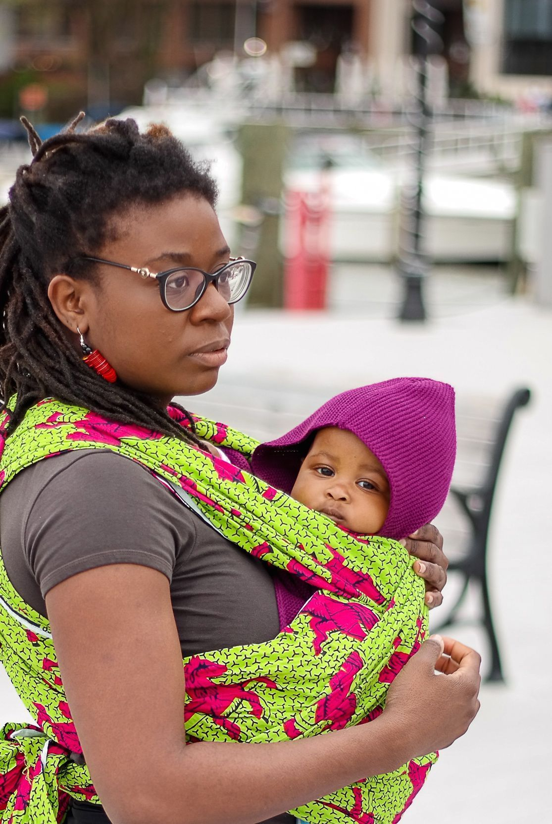 African print baby carrier this can be worn in so many