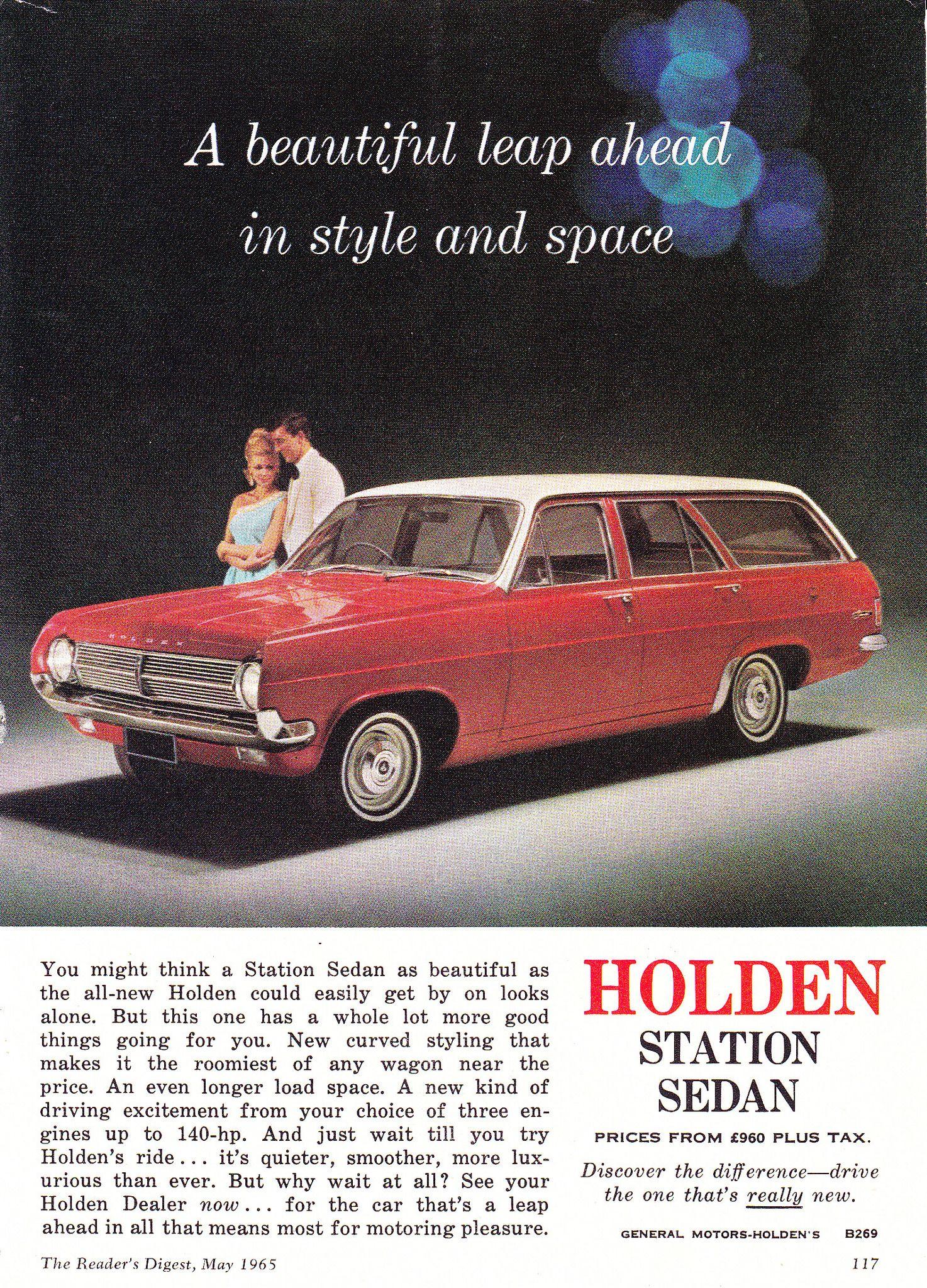 1965 HD Holden Special Station Sedan Aussie Original