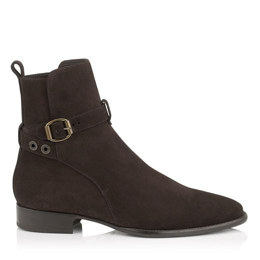 JIMMY CHOO HOLDEN Ebony Dry Suede Boots. #jimmychoo #shoes #s