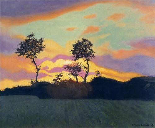 Public Domain Landscape at Sunset - Felix Vallotton