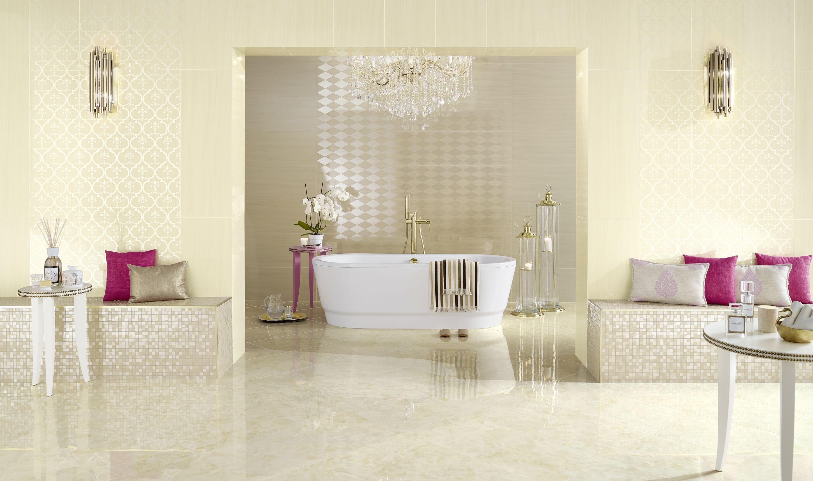 Glossy Decorative Wall Tiles From The New Exto Collection A