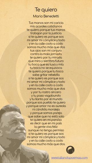 Descargar Te Quiero Pdf Mario Benedetti Letras De Poemas Benedetti Poemas Mario Benedetti Poemas