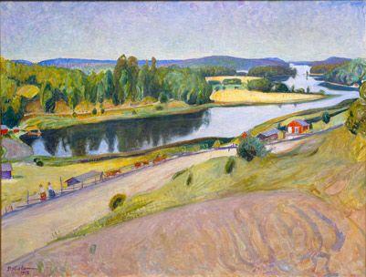 Kesämaisema Harmoisista, 1912