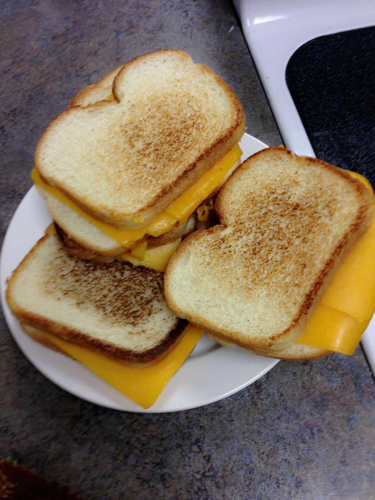 Princess party: grilled cheese, bread and cheese