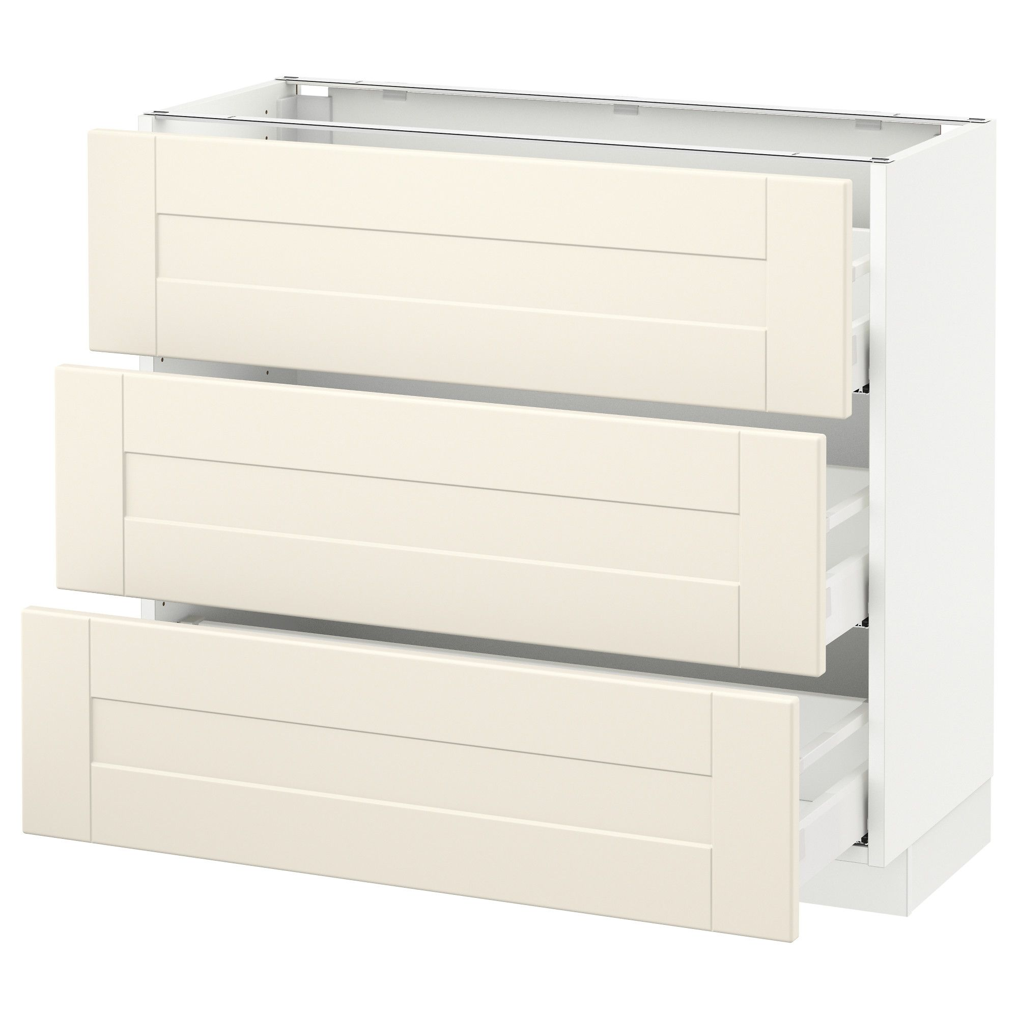 Ikea Kitchen Cabinets Quality: SEKTION White Base Cabinet With 3 Drawers Frame