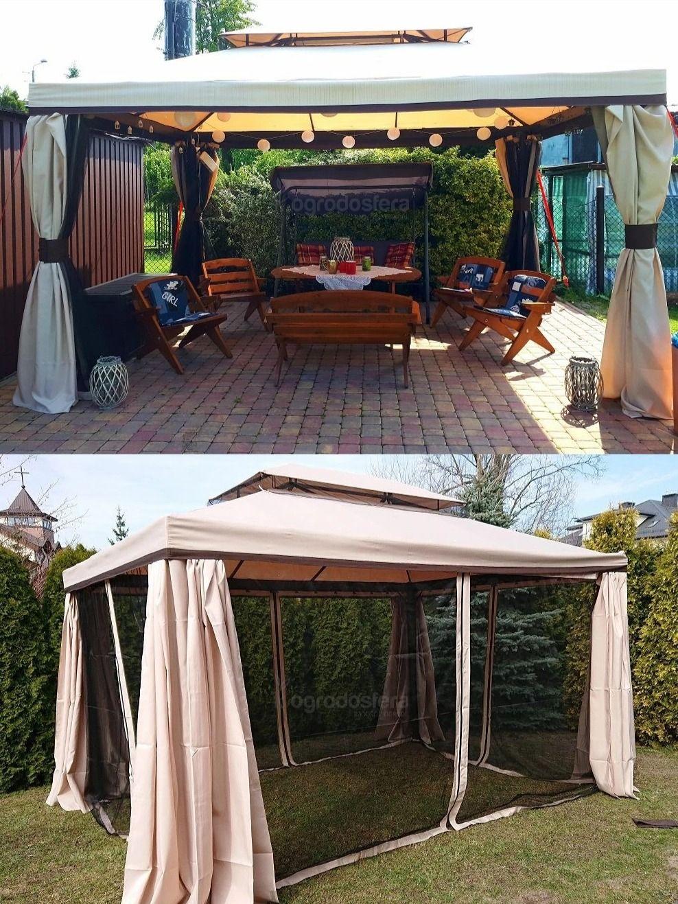 Pawilon Ogrodowy Z Moskitiera Walencja 3 X 4 M W Ogrodosfera Pl Patio Patio Umbrella Outdoor Decor