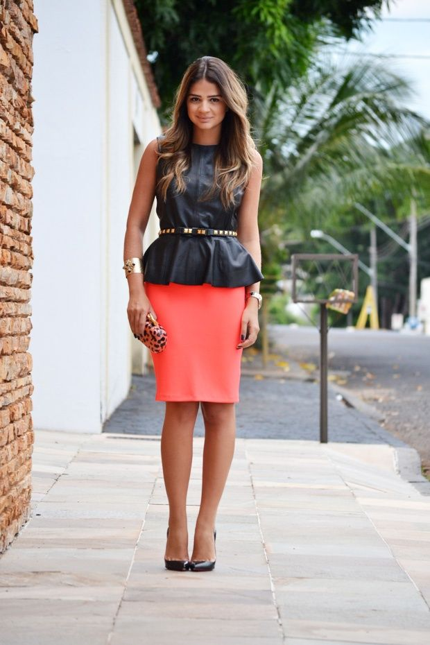 e95663a215b Peplum top with pencil skirt Four Fresh Ways to Wear Pencil Skirts