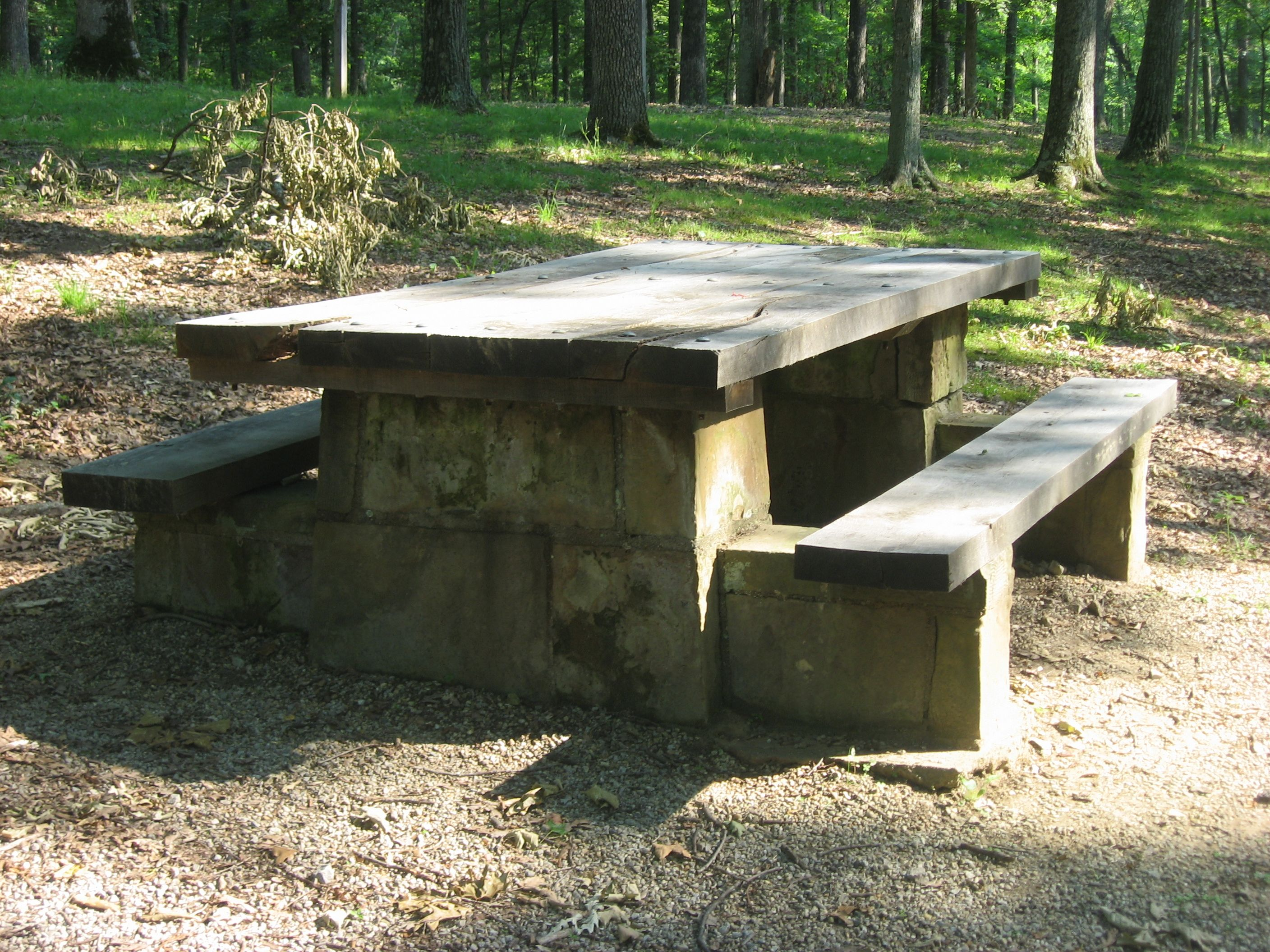 Stonepicnictable Google Search Outdoor Spaces Pinterest - Stone picnic table