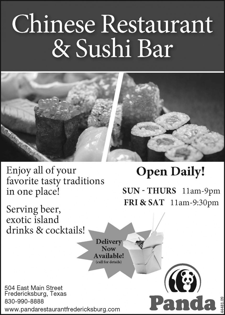 Chinese restaurant sushi bar enjoy all of your favorite