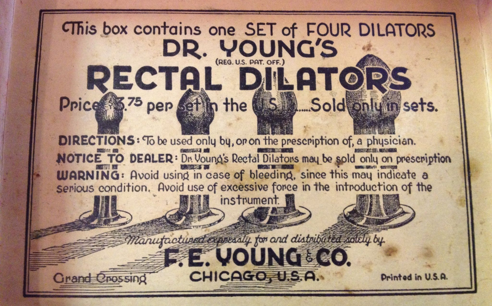 Image result for Dr Young's Ideal Rectal Dilators