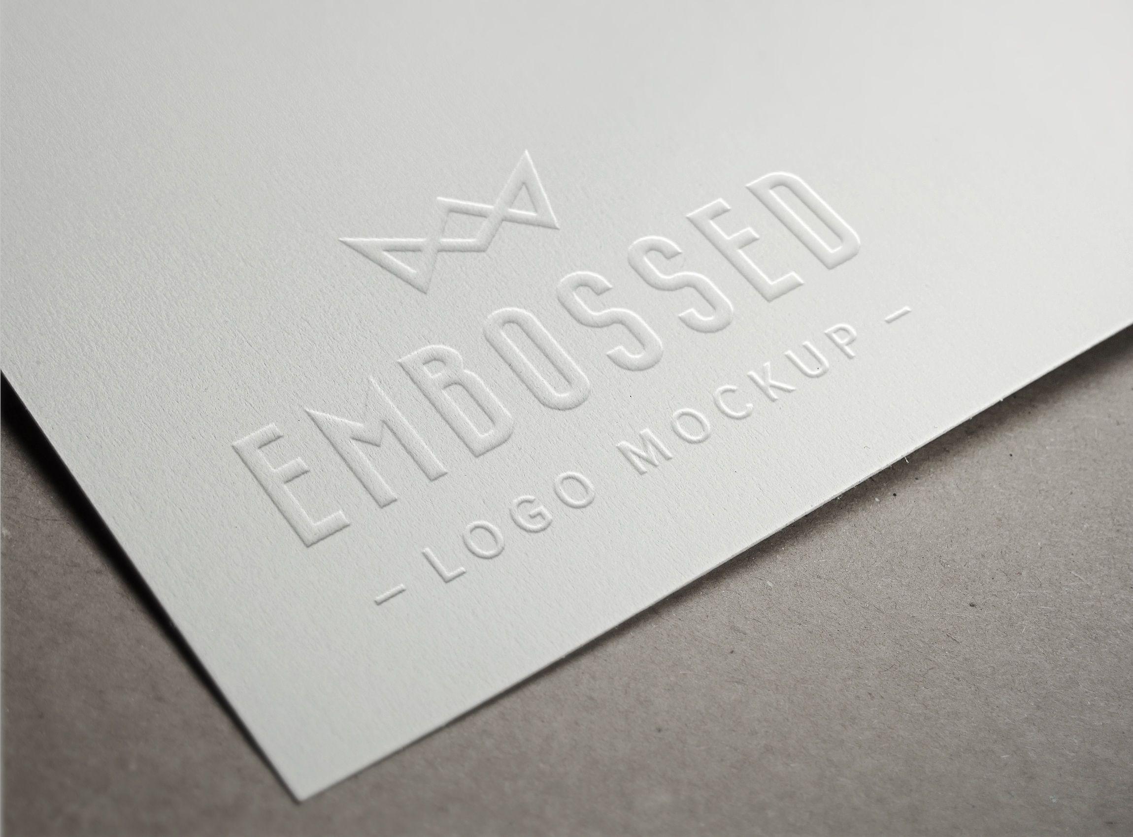 Embossed Paper Logo Mockup Logo Mockup Paper Logo Free Logo Mockup