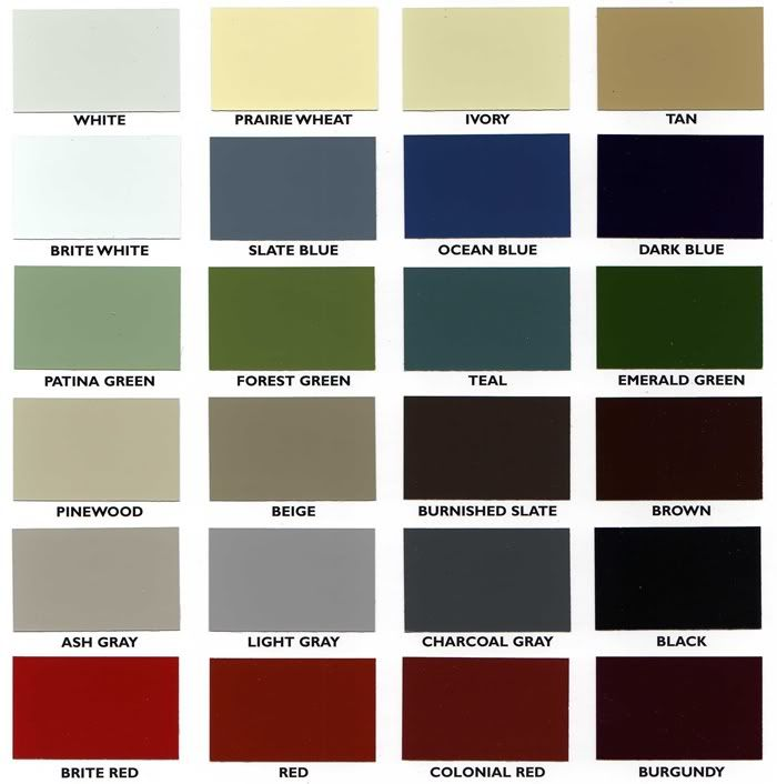 Siding Colors. I Like The Darkest Green.