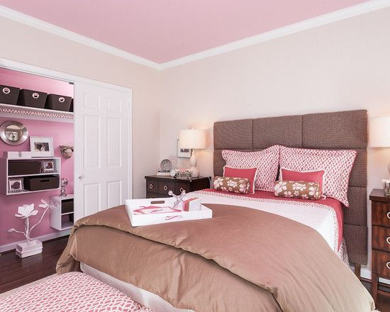 soft pink bedroom ceiling get the look with dunn edwards pink eraser de6024 for - Bedroom Ceiling Color Ideas