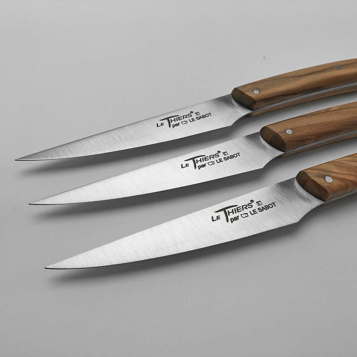 Coffret 6 Couteaux De Table Le Thiers Bistro Chic Olivier Comptoir Du Couteau En 2020 Couteau Couteaux De Table Bistro