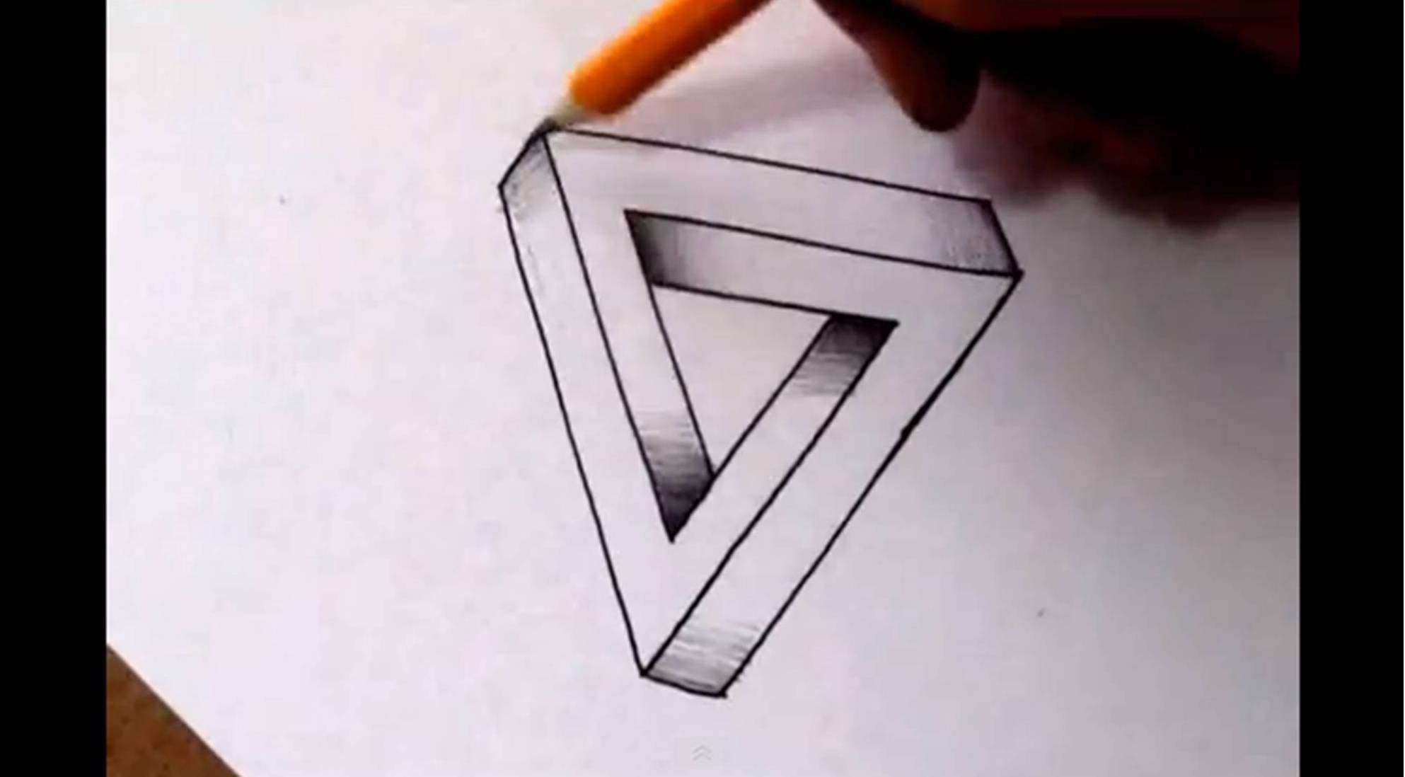 How To Draw The Impossible Triangle Optical Illusion Via Youtube