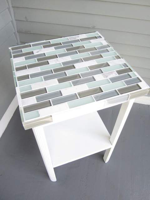 how to tile a small table top small