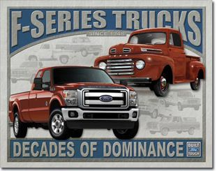 16 X 12 5 Ford F Series Trucks Tin Sign Mancave Garage Decor Garage Decor Ford F Series 1948 Ford Truck