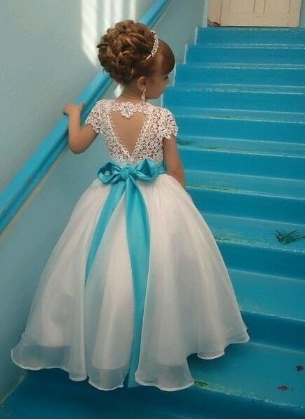 a8df2fc447 Crystals Lace Flower Sash Short-Sleeves Puffy Girl Dresses BA3744 High  Quality Wedding Dresses