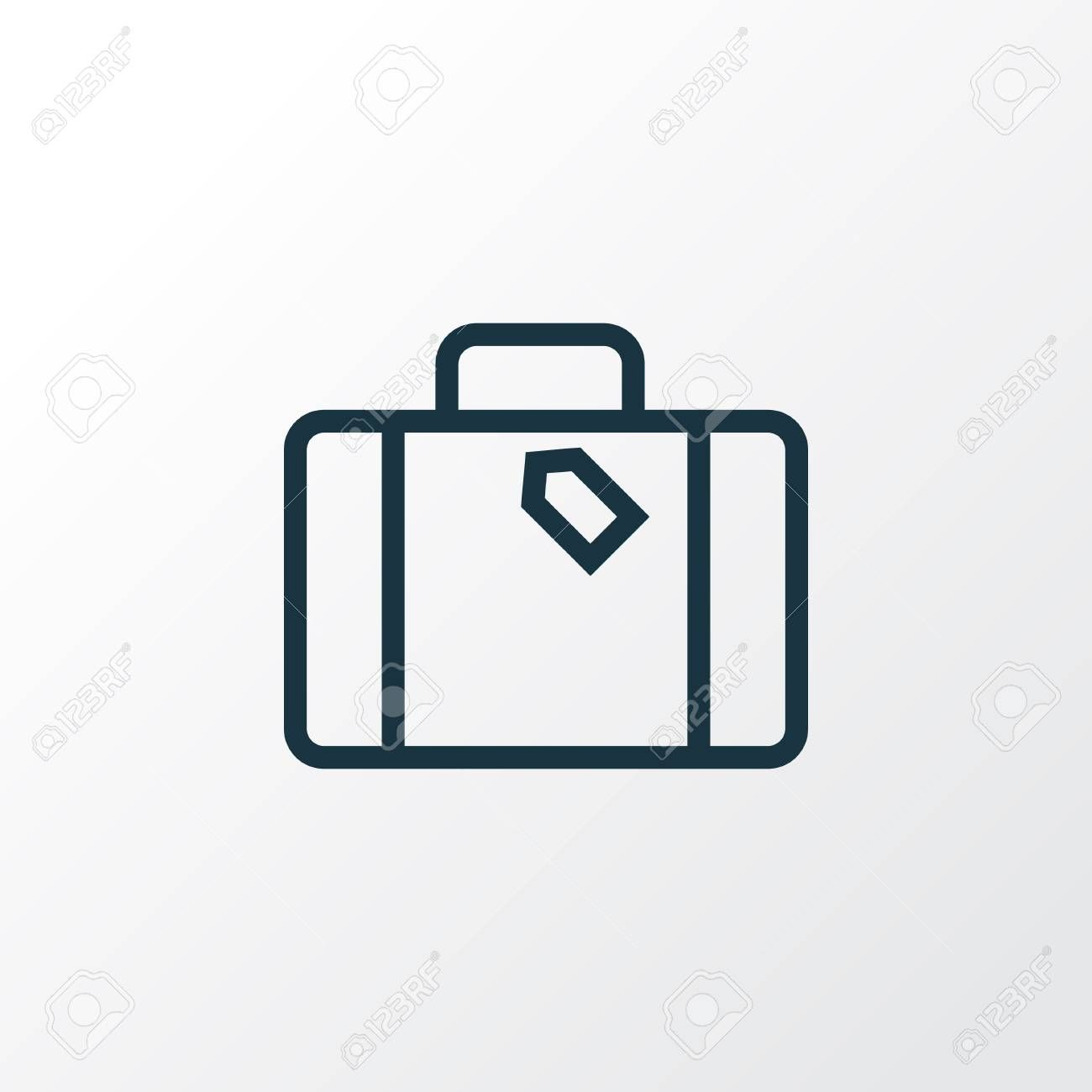 Suitcase Outline Symbol. Premium Quality Isolated Luggage