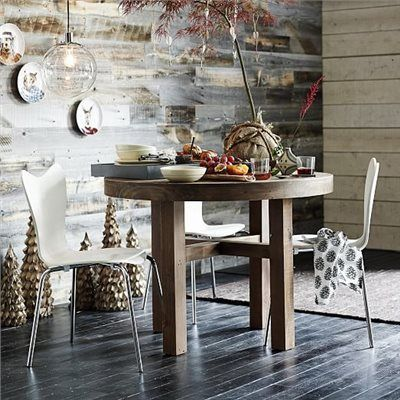 Exceptional EmmersonTM Reclaimed Wood Round Dining Table