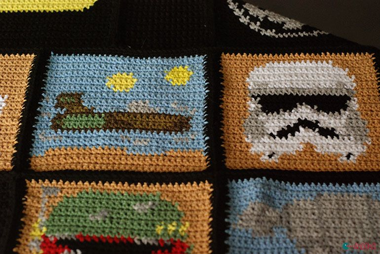 Star Wars crochet blanket : free charts and explanations