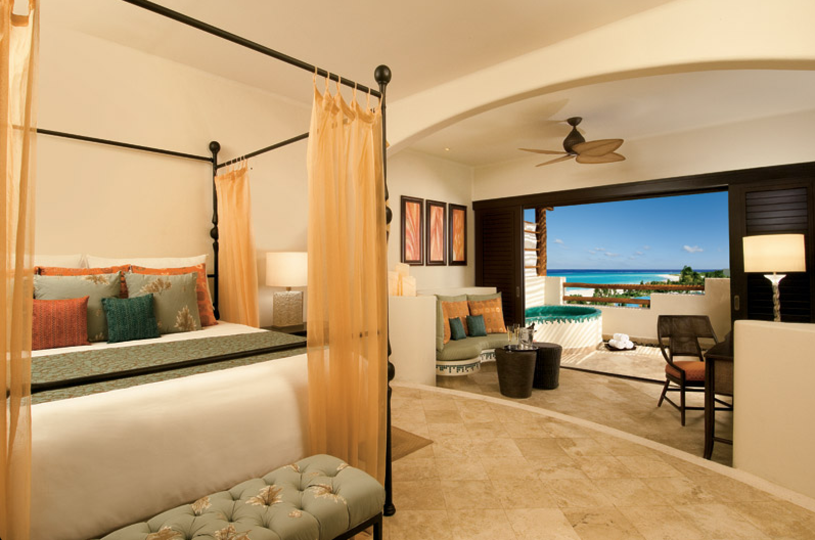 Our Preferred Club Junior Suite Ocean View Displays A Four Poster