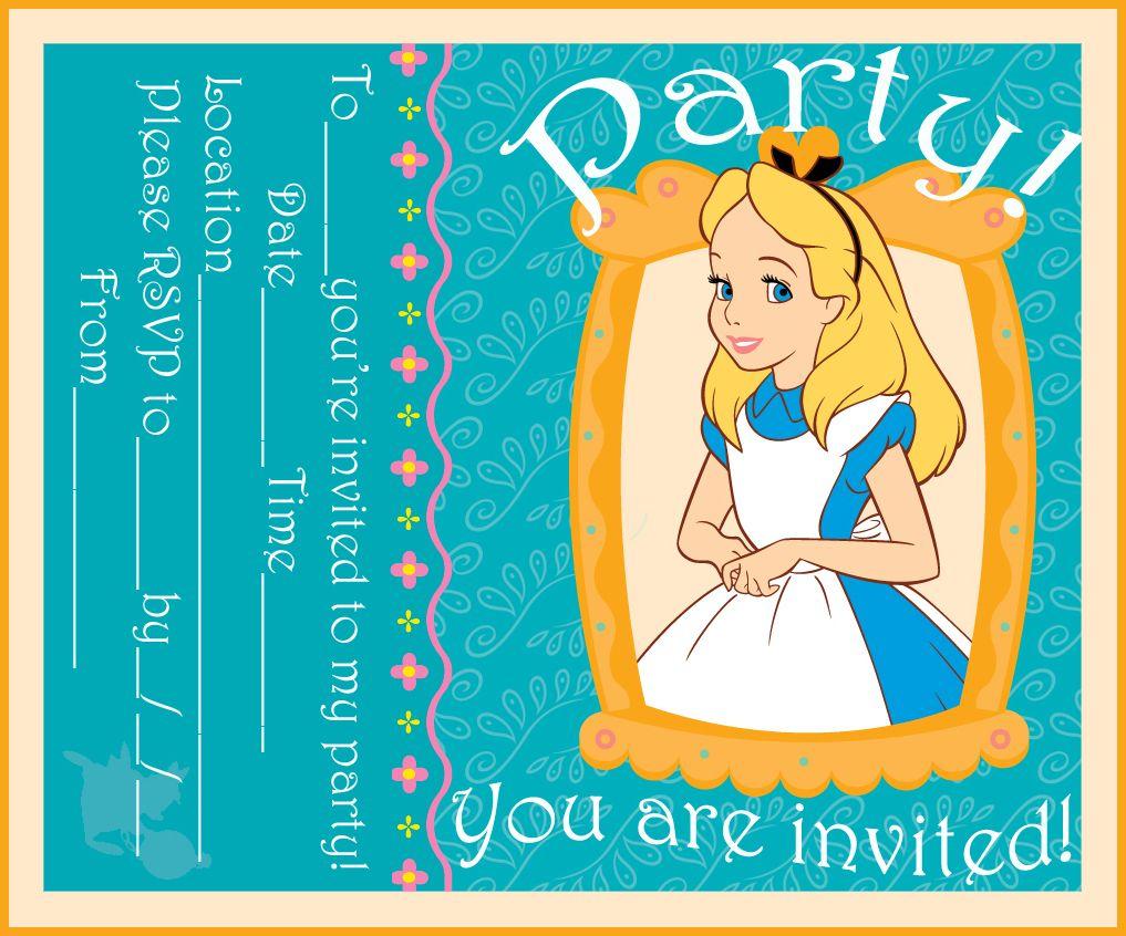 Alice in wonderland party invite | ALICE\'S 1st birthday | Pinterest ...