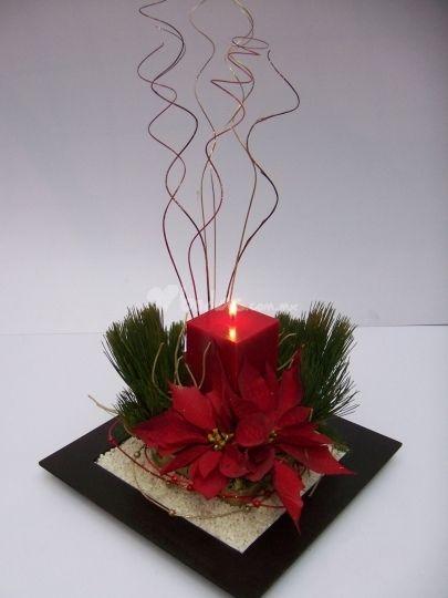 Decoraci n para bodas en invierno la nube flores en y - Centros florales navidenos ...