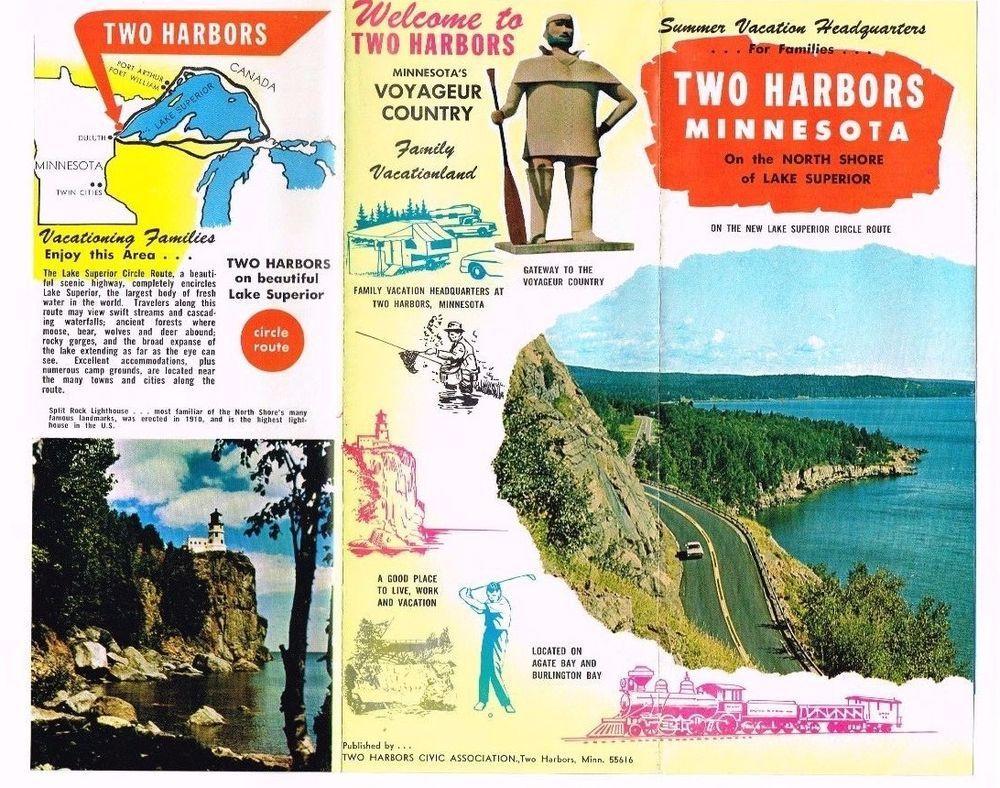 Two Harbors Minnesota Mn Travel Brochure North Shore Lake Superior
