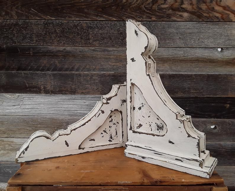 Wooden Corbels Sconces Distressed Corbels White Corbels Wall Sconces Farmhouse Corbels Vintage Inspired Book Ends Wooden Corbels Wall Sconces Sconces