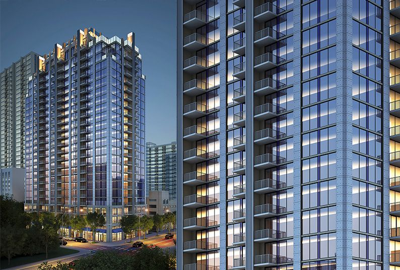 skyhouse south midtown luxury high rise apartments