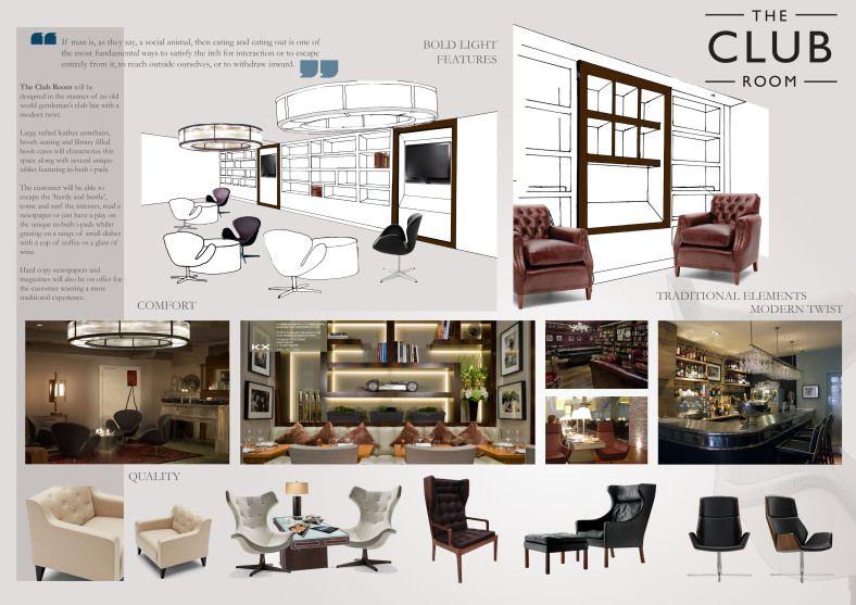 Concept In Theory The Club Room With Images Interior Design Renderings Unique Interior Design Interior Concept