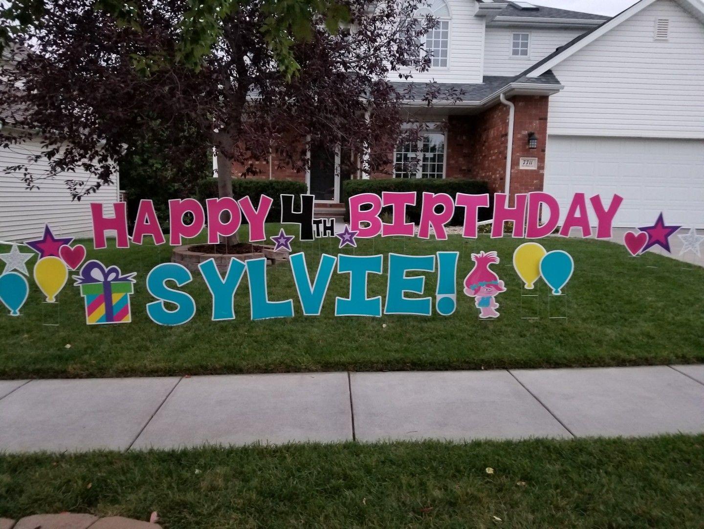 Birthdays Are More Fun With Card My Yard Www Cardmyyard Com Birthday Yard Signs Yard Cards Cards
