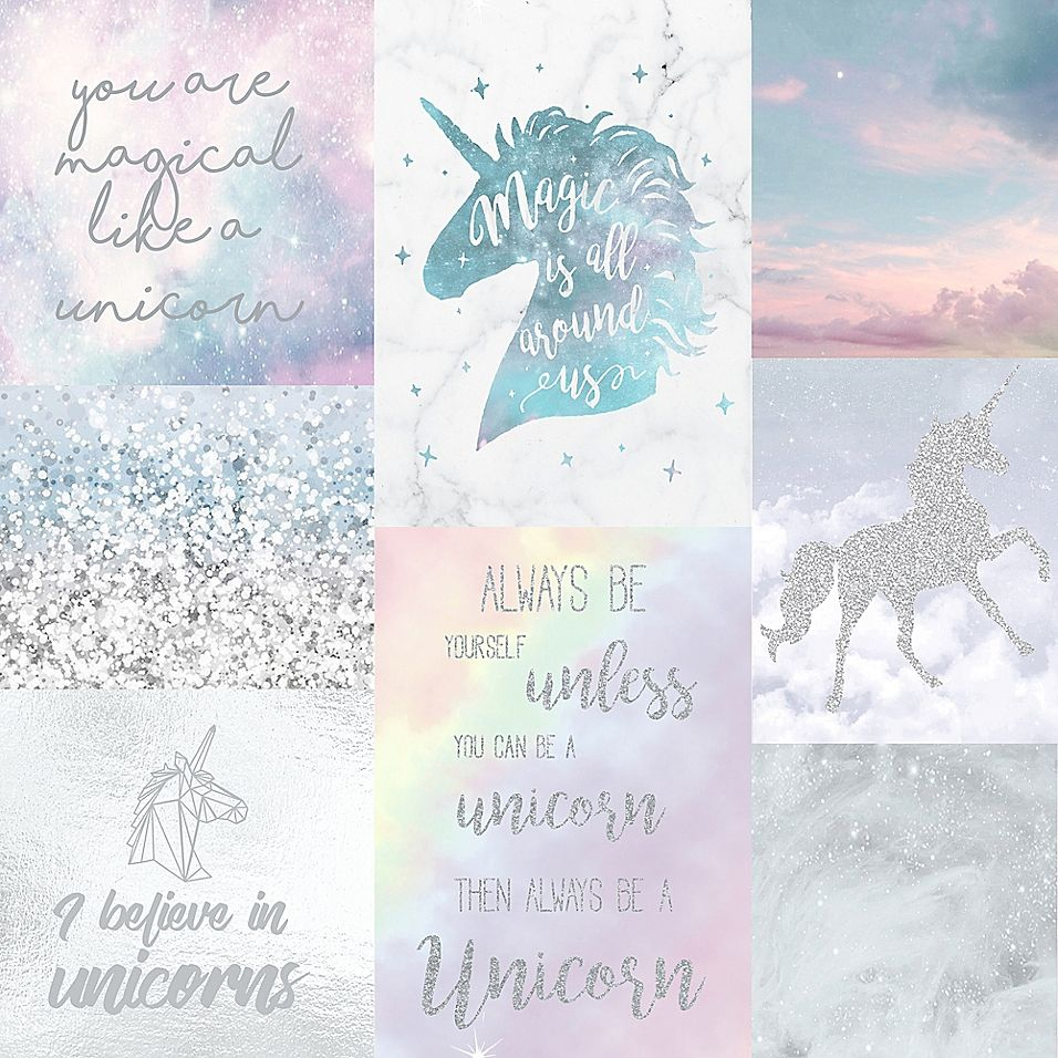 Arthouse Believe In Unicorns Wallpaper Bed Bath Beyond Unicorn Wallpaper Glitter Wallpaper Wallpaper Pink And Blue