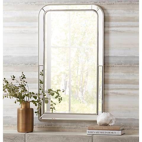 "Finnley Arch Corner 26"" x 45"" Wall Mirror - #11T09 | Lamps Plus"