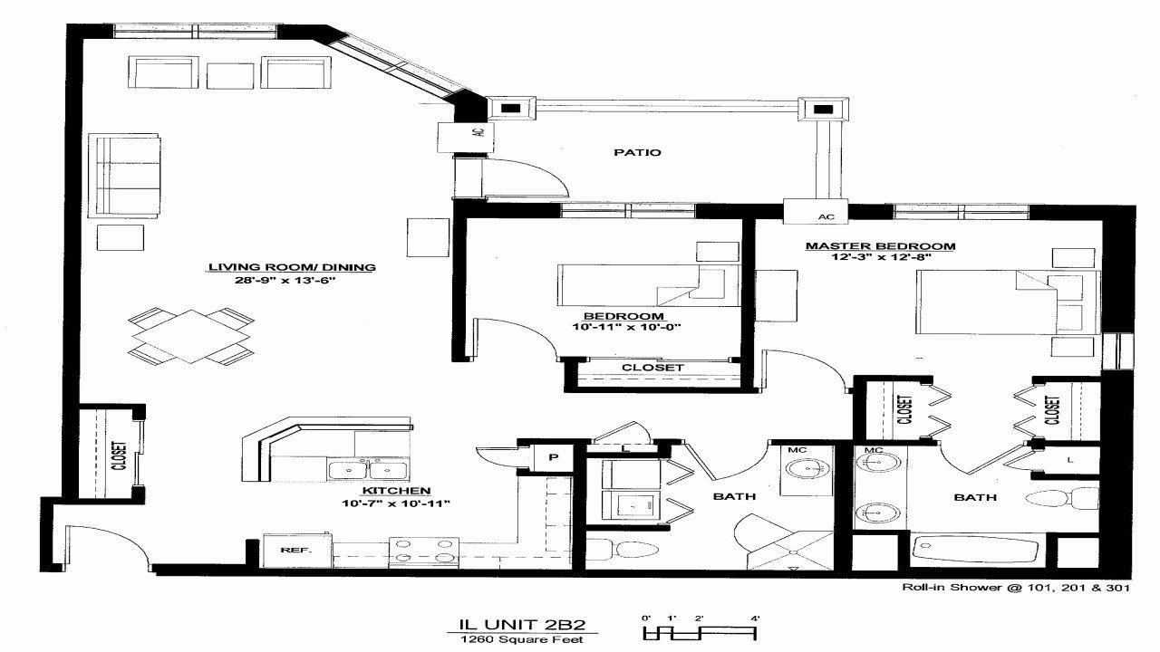 Luxury Two Bedroom House Plans Unique Luxury 2 Bedroom Apartment Floor Plan Luxury 2 Bed In 2020 Garage Apartment Floor Plans Apartment Floor Plans Bedroom House Plans
