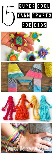 15 Super Cool Yarn Crafts For Kids Woodworking Ideas Pinterest