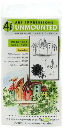 Art Impressions 4059 Watercolor Series WC 5 Set 2 Rubber Stamp