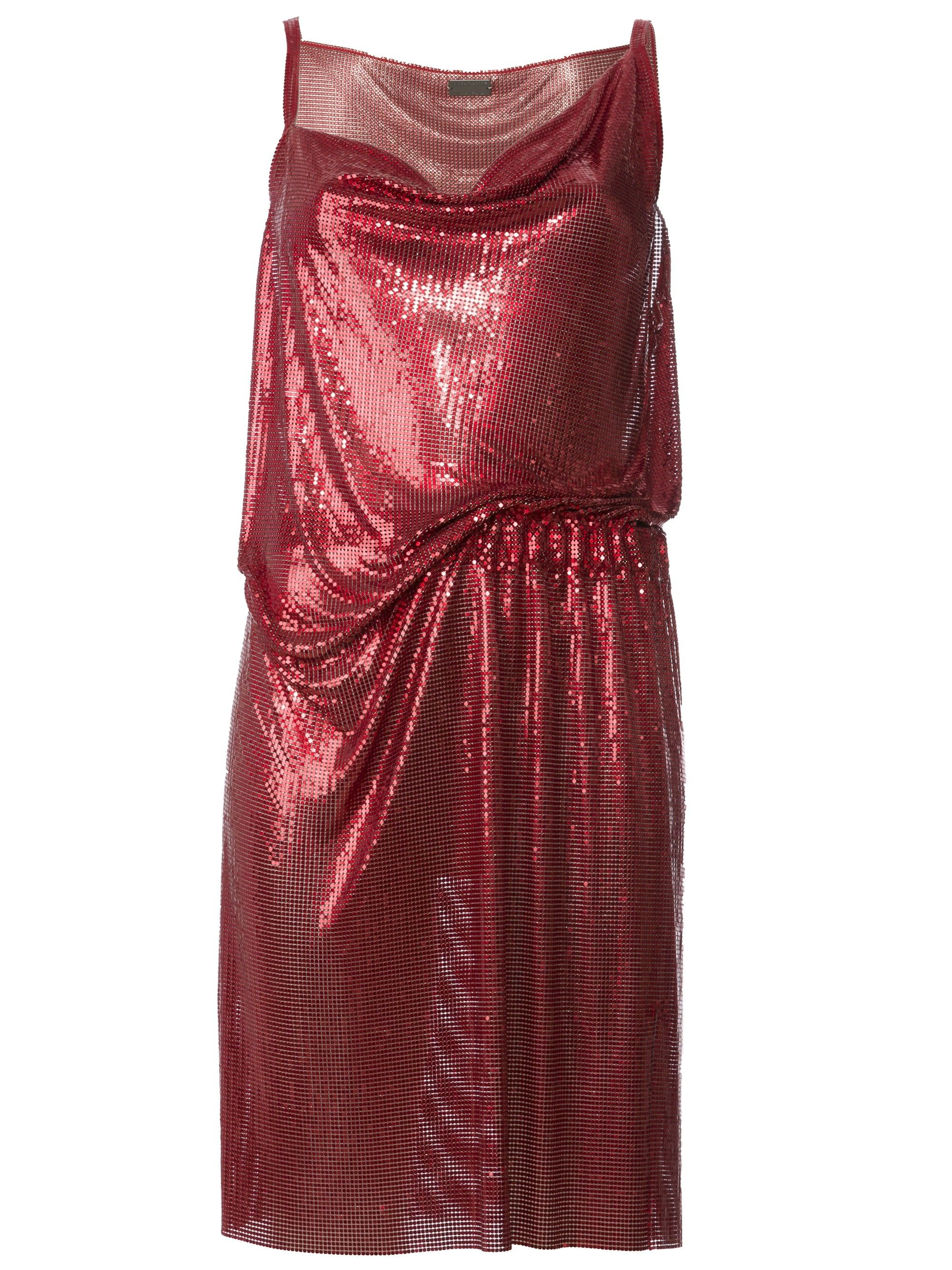 PACO RABANNE draped mini dress. #pacorabanne #cloth #
