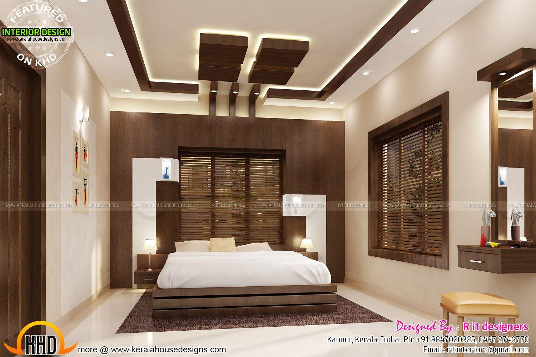 stair bedroom kitchen interiors kerala home design and floor plans ...