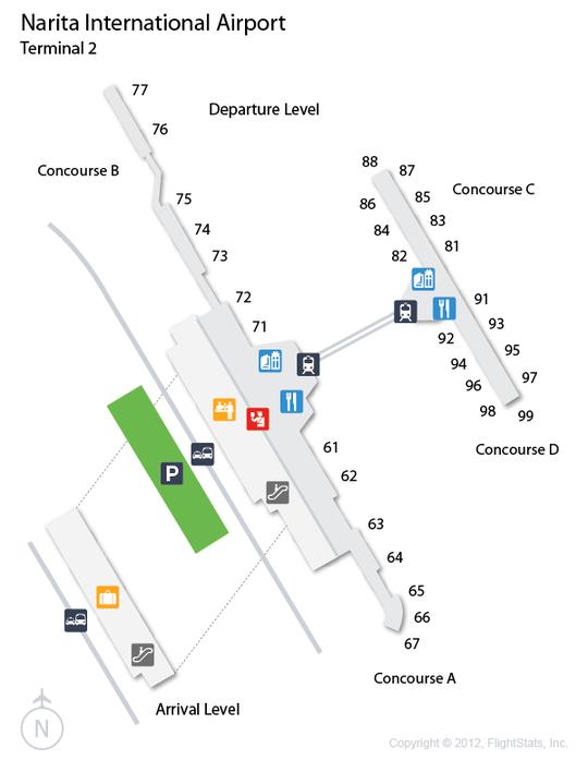 NRT Narita International Airport Terminal Map airports Pinterest Inte