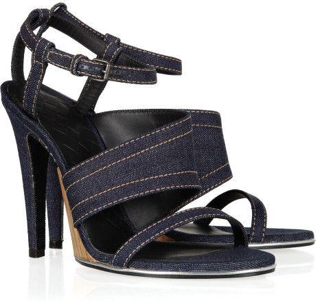 Love this: BOTTEGA VENETA Denim and Leather Sandals @Lyst